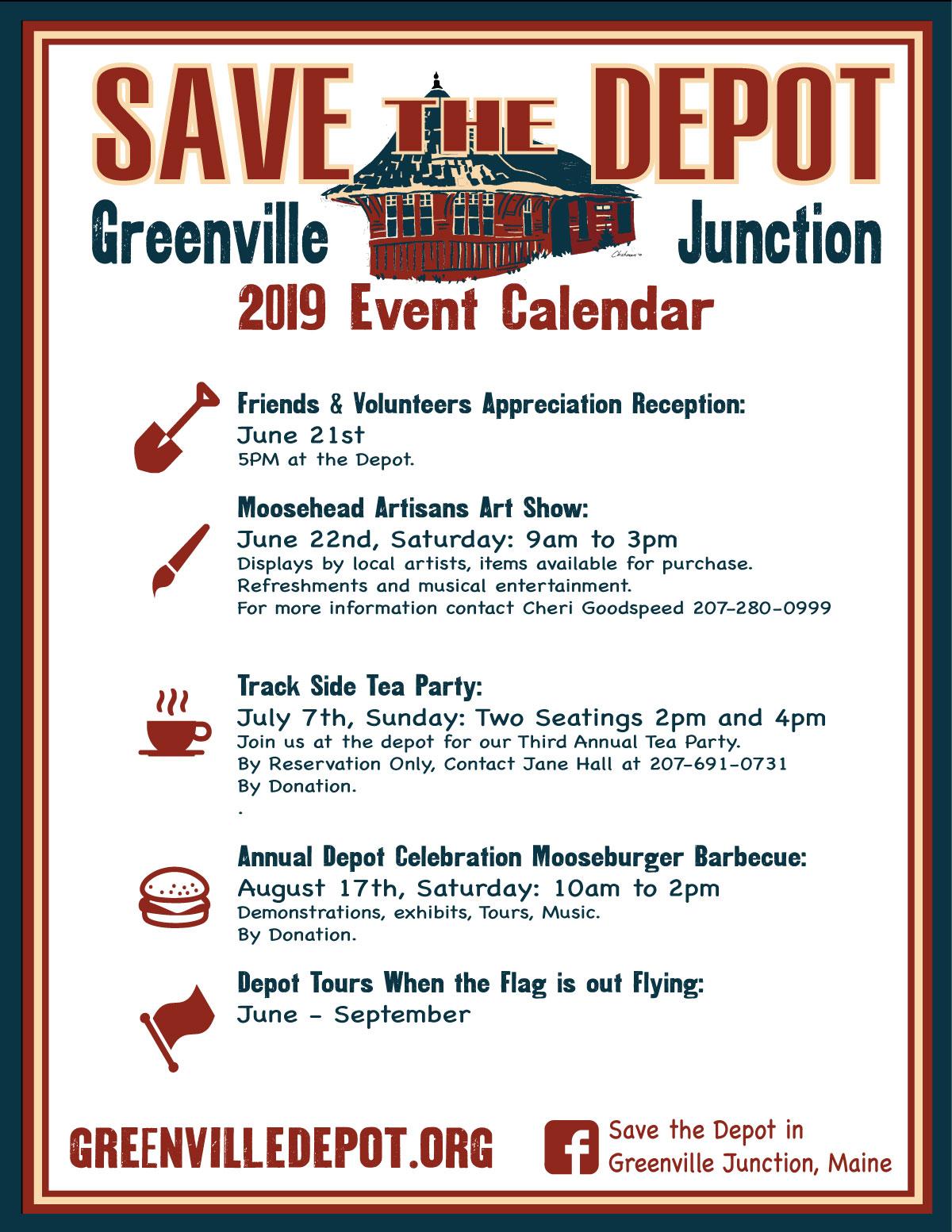 2019 Event Calendar – Greenvilledepot org